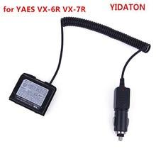 YIDATON for YAESU VX 7R 12V Car Battery Charger Eliminator Adaptor Walkie Talkie VX 6R With Waterproof Ring Battery Eliminator