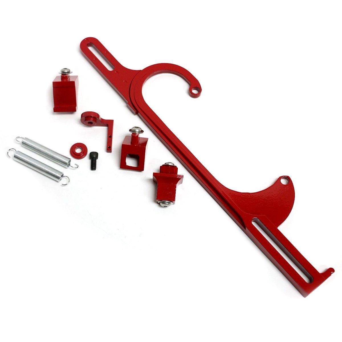 4150 4160 Red Aluminum Throttle Cable Carb Bracket Carburetor 350 SBC4150 4160 Red Aluminum Throttle Cable Carb Bracket Carburetor 350 SBC