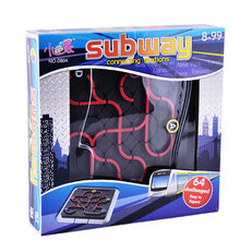 Twist Subway Connecting Stations Track Maze Puzzle Board Game Plastic Toy Gift 1(China)