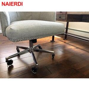 """Image 3 - 5 adet NAIERDI 3 """"evrensel dilsiz tekerlek ofis koltuğu tekerleği değiştirme 60KG döner kauçuk yumuşak güvenli silindirleri mobilya donanım"""