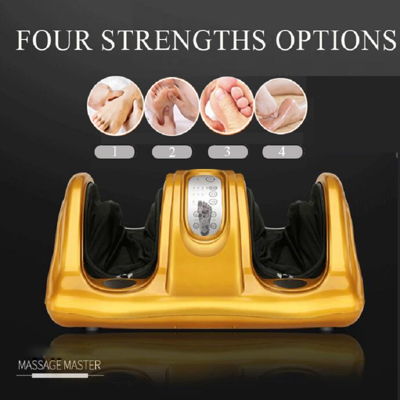 Electric Vibrating Foot Massager Health Care Massage With Infrared Heating Therapy Shiatsu Kneading Air Pressure Machine health care infrared heating therapy foot massage machines foot sole blood circulation stimulation electric foot massager