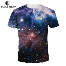 2017 3D Print Space Galaxy T-shirt Men/Women Harajuku Hip hop New Brand T-shirt Nightfall Tree Summer Tops Tees T shirt