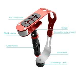 Image 2 - Ręczny stabilizator wideo stabilizator aparatu Steadicam do aparatu Canon Nikon Sony Gopro Hero telefon DSLR DV DSL 04