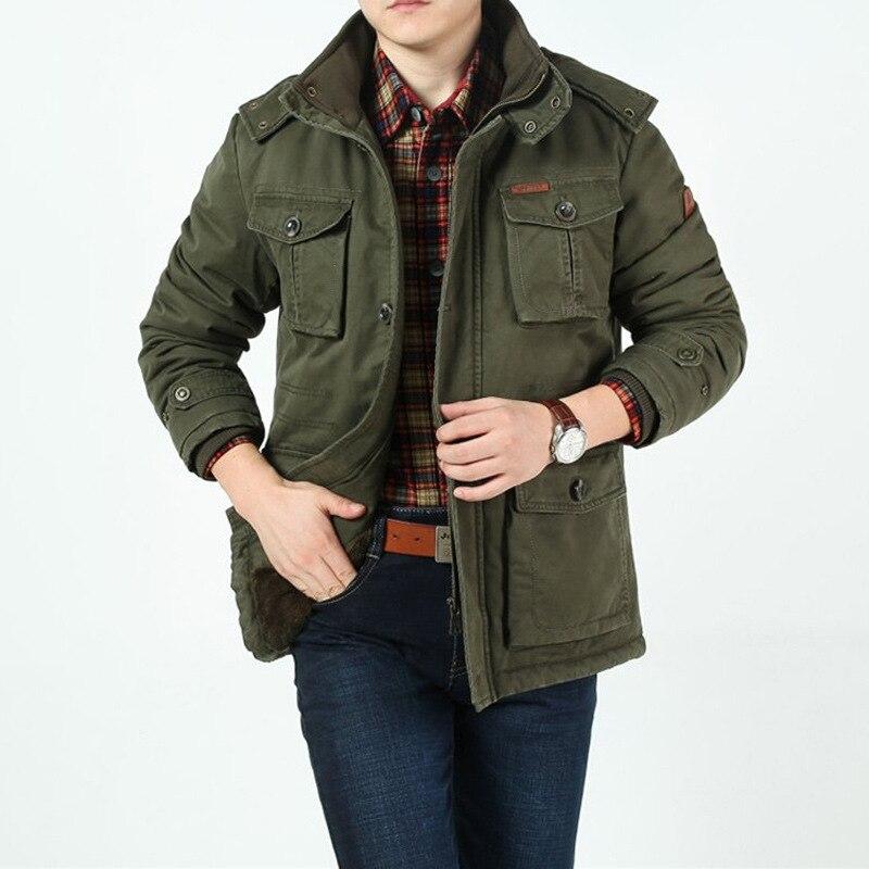 AFS ZDJP Thickeni Askeri Pamuk Ceket Kaban Erkekler Artı Boyutu - Erkek Giyim - Fotoğraf 3
