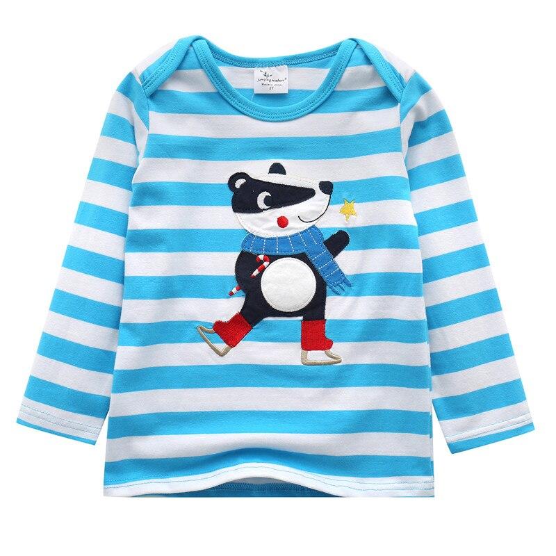 все цены на Kids Boys Long Sleeve T shirt new striped Children Clothing Tops animal Kids T-shirts Spring Autumn Winter boys jumping meters