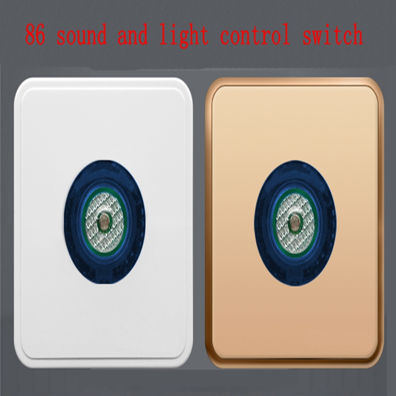 oice activated switch corridor induction home intelligent socket led delay panel 86 sound and light control switch icoco sound control light 3w e27 light bulb voice activated intelligent led sensor lamp small night light for corridor bedroom