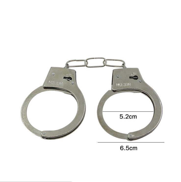 Ролевые игры Серебряные Металлические наручники с ключами полицейские ролевые принадлежности для косплея полицейская игрушка для детей мальчик WYQ