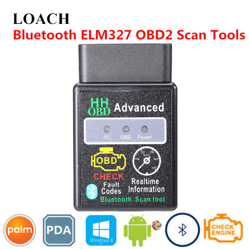 Advanced Smart Mini ELM327 HH OBD2 Carro Ferramenta de Scanner PODE BUS OBDII Bluetooth 2 OBD II Diagnóstico Chip Inteligente Android PC PDA