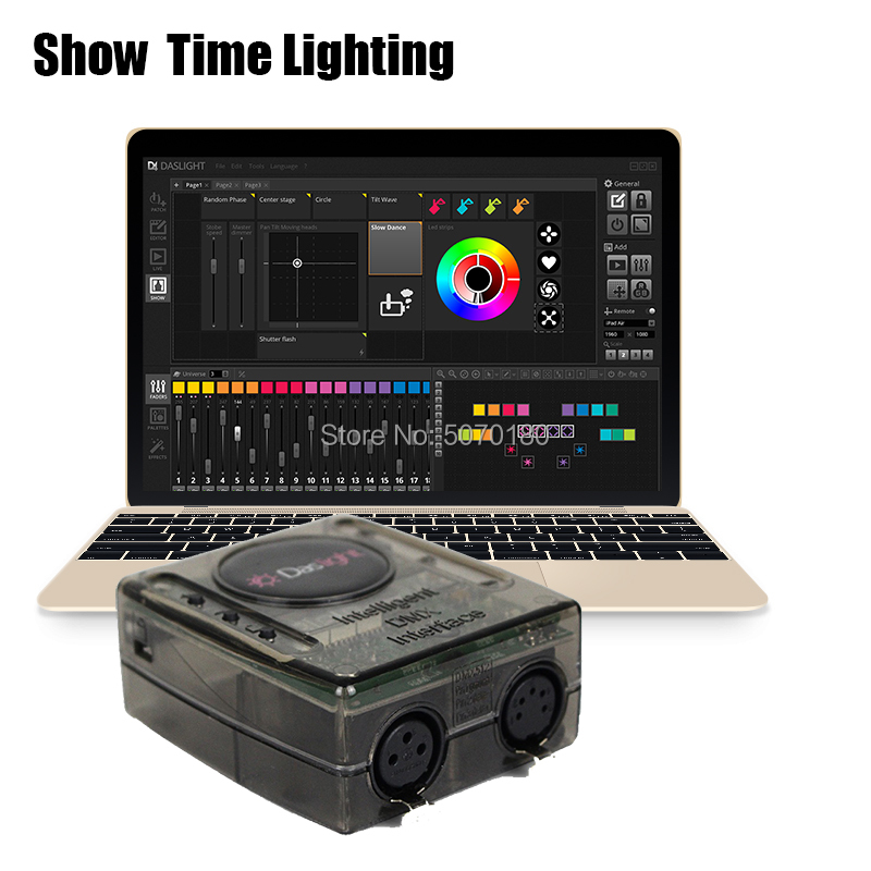 2019 nouvelle version Daslight DVC4 DMX contrôleur logiciel console principale mobile pour Disco DJ KTV partie Interface d'éclairage USB