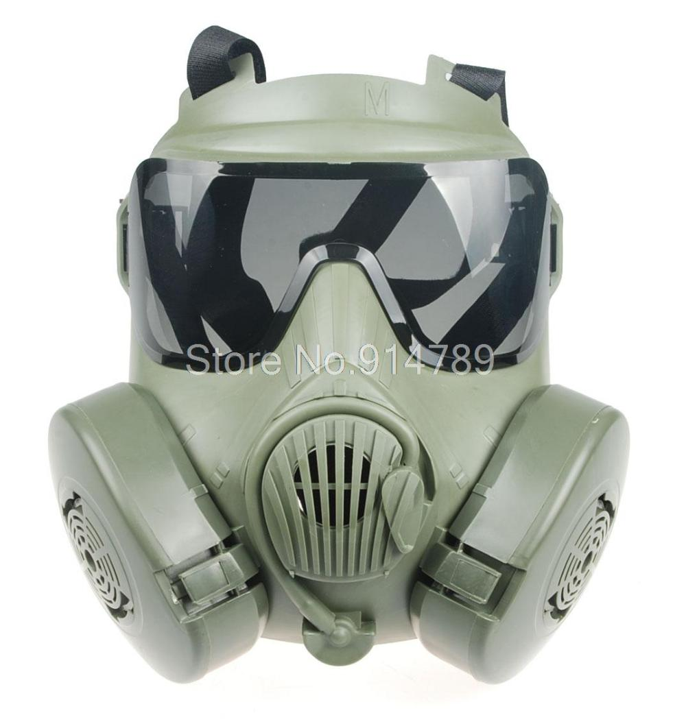 Tactical Airsoft Paintball Full Face Skull Gas Mask M50 Black 34154