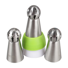 Russian Flower Icing Piping Torch Nozzles Ball Tulip Sphere Tips Set for Pastry Cream Cake Cupcake Decorating Baking Tools