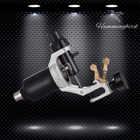 Original Hummingbird Rotary Tattoo Machine Gun Swiss Motor with Cord Needle Tips RCA Jack Supply Silver
