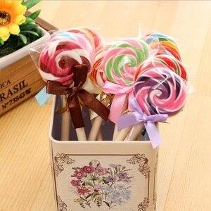 Image 4 - 24 Cái/lốc Kawaii Lollipop Thiết Kế Đen 0.5Mm Mực Bút Bi Sinh Viên Chữ Ký Bút Văn Phòng Học Văn Phòng Phẩm Vật Dụng