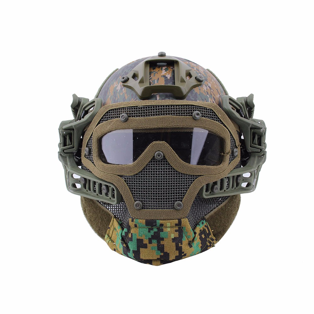 Tactical PJ Military Helmet G4 System Fullface With Protective Goggle and Mesh Face Mask Airsoft Helmets for War Game sw2009 tactic war game protective abs half face mask army green