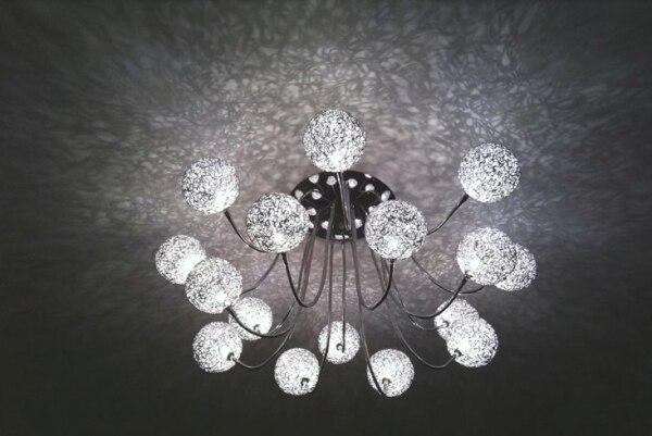 Modern16 Lichter Aluminiumdraht Ball Deckenleuchte Lampe Led Wohnzimmer Kronleuchter Decke Moderne LeuchtenChina