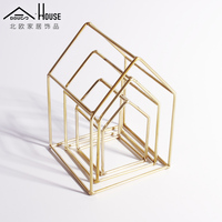 The Nordic Modern Model Room Hostel Trim Club Creative Metal Iron Soft Outfit Home Furnishing Partition