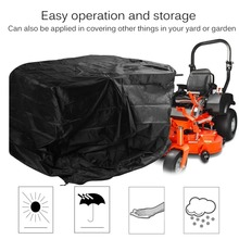 170*110*110cm PE Lawn Mower Cover Tractor Grill Waterproof Dustproof Sun Rain Protection Cover Garden Yard Mower Overlay Cover
