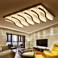 S Curve Modern LED Chandelier Lights Lamp 36w 160w Dinningroom Bedroom Acrylic Metal Dimmable Pandent Hanging