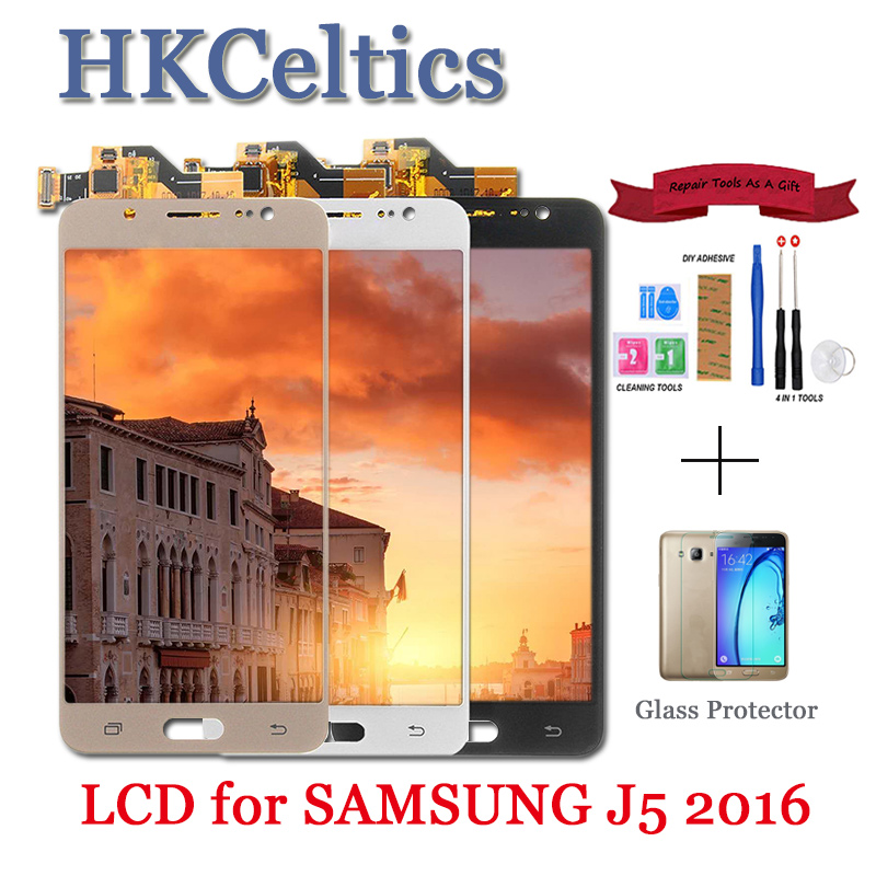 For Samsung Galaxy J5 2016 J510 SM J510F <font><b>J510FN</b></font> J510M J510Y J510G DS LCD <font><b>Display</b></font> + Touch Screen Digitizer Panel Assembly Parts image