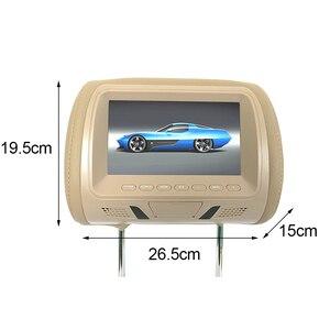Image 3 - 7 Pollici Universale Poggiatesta Monitor Costruito in Altoparlante Multi Media Player Led Dello Schermo Della Macchina Fotografica Video Usb di Sostegno Sedile Posteriore Digitale auto