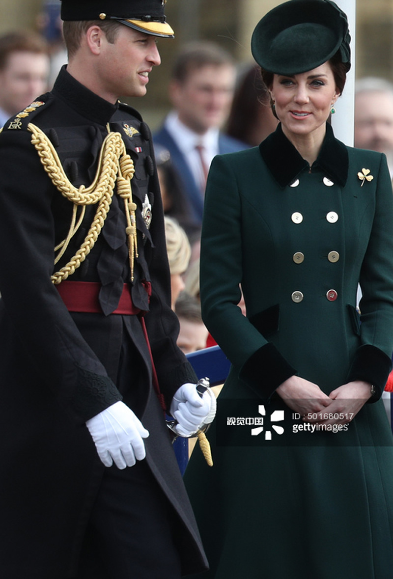 New Kate Middleton Princess Wool Coat Green Warm Double Breasted Winter Coat