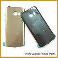 Новый Оригинальный Задняя крышка Батарейного Отсека Для Samsung Galaxy S7 Жилья Заднее Стекло Крышки Мобильного Телефона Части + ЛОГОТИП