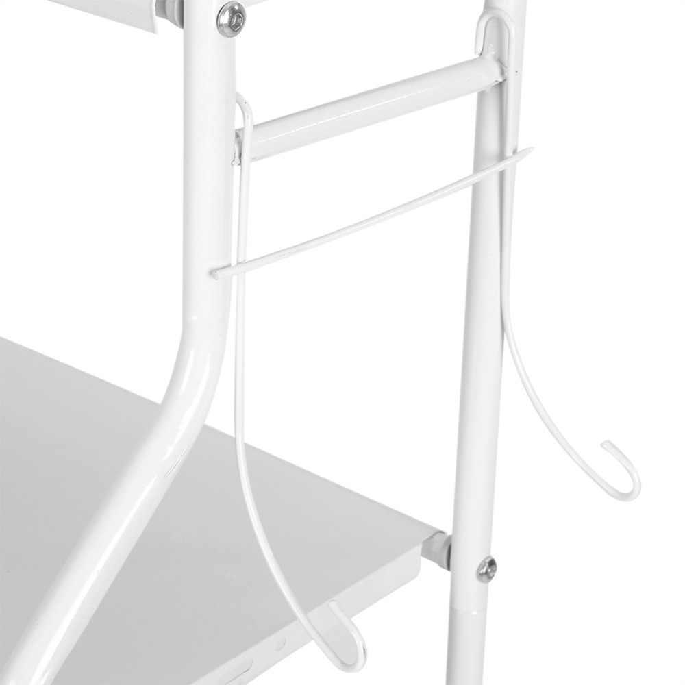 3-Tier fer toilette serviette de rangement support étagères sur salle de bain étagère organisateur pour magasin shampooing/serviette etc accessoire-blanc