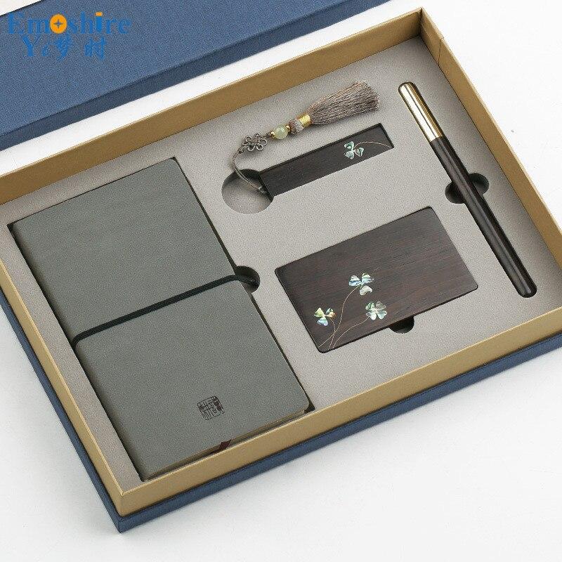 Notepad 16 GB USB Flash Drives Business Card Holder Roller Ball Pen Ballpoint Pen Set High-end Business Office Gifts Custom P434 стоимость