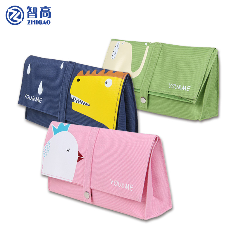 Zhigao Cute big Pencil bag school supplies Kids Pencil Box Stationery bag Storage bag girl simple pencil canvas case roll bag new cute beautiful world canvas pencil case kawaii kids girl pencil bag pen bag pouch student school supplies stationery gifts