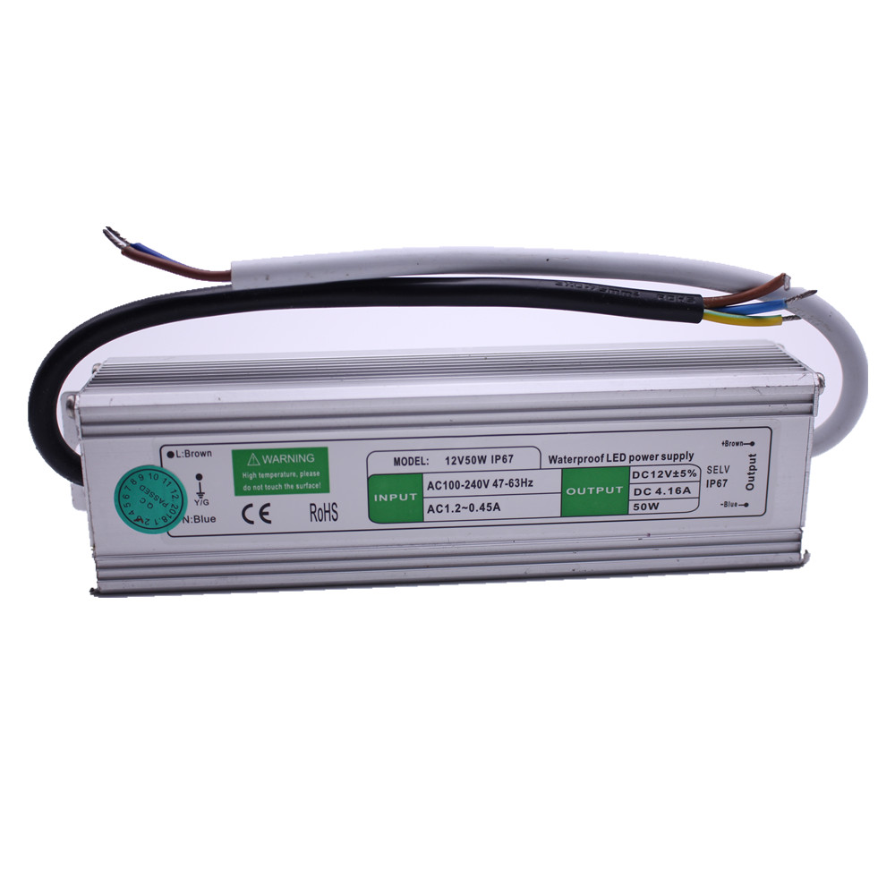 LED Transformer Power Supply Adapter DC12V/24V 10W/20W/30W/36W/50W/250W Waterproof Ip67 LED Driver Transformer For Strip Light