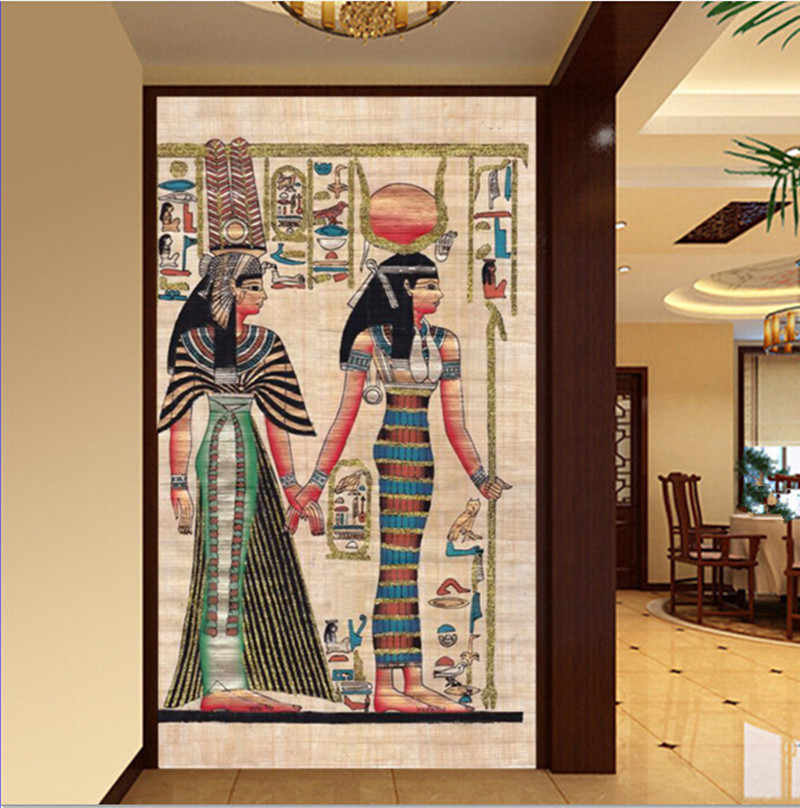 Kustom 3D mural besar, Ancient Indian wallpaper papel de parede, ruang tv dinding kamar wallpaper