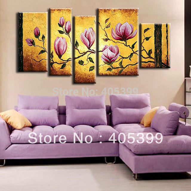 Free Shipping !! The Pink Flower ! Huge  Real Handmade Modern Abstract Oil Painting On Canvas Wall Art ,Z053