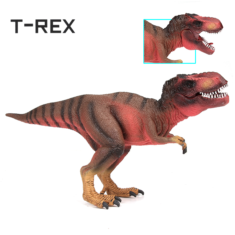 Cikoo PVC Dinosaurier Spielzeug T-Rex Figur Tyrannosaurus Rex Animal Modell Lernspielzeug