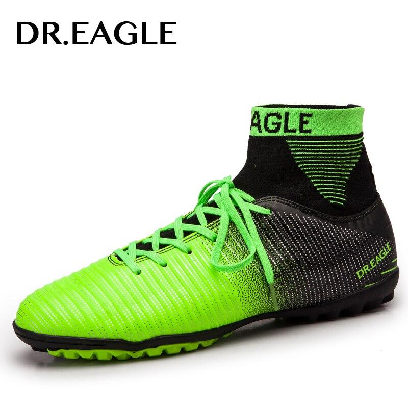 DR. AIGLE intérieur gazon/TF crampons haute cheville futsal football bottes sneakers chaussures enfants chaussures de football crampons garçons chaussures hommes chaussette