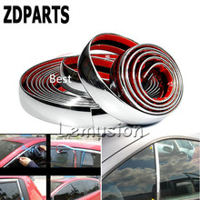 ZDPARTS 5M Chrome Trim Car Molding Strip Decoration Sticker For Toyota Corolla Avensis Rav4 c-hr Volkswagen VW Passat B6 B5 Polo(China)