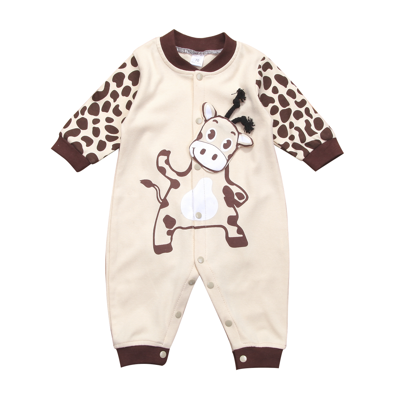 52926ea56080 0 24M Cute Cow Newborn Baby Girls Boys Clothes long sleeve Animal ...