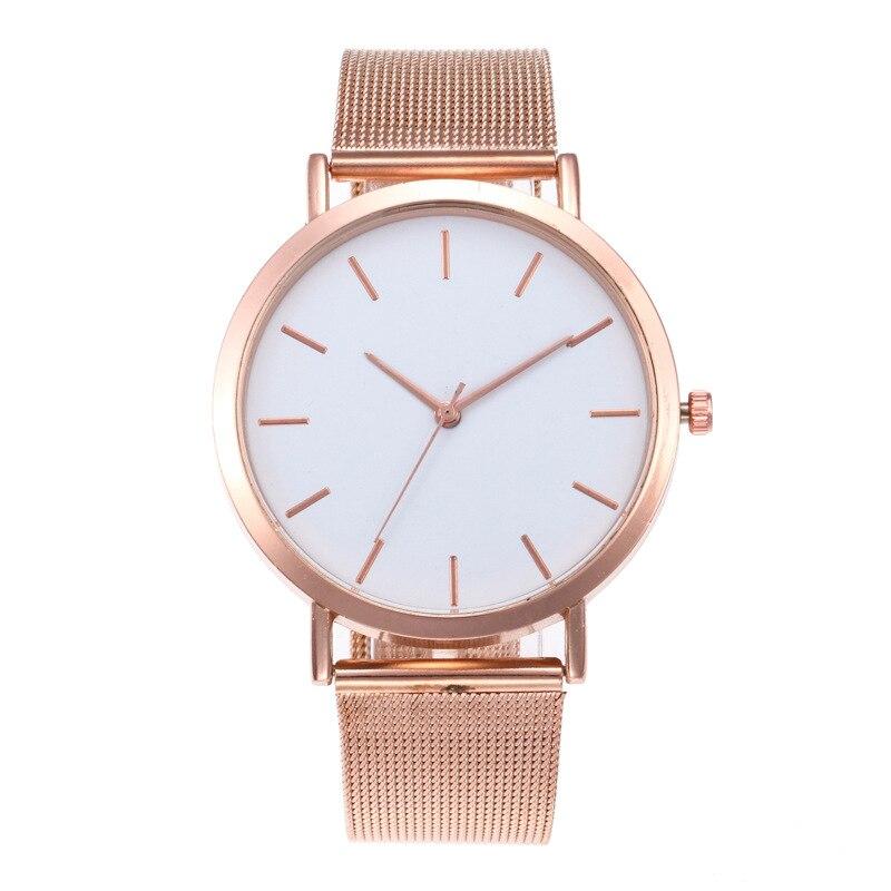 CAW012 Women Ladies Stainless Steel Mesh Band Wrist Watch Girl Fashion Wedding Quartz Clock Fashion Wrist