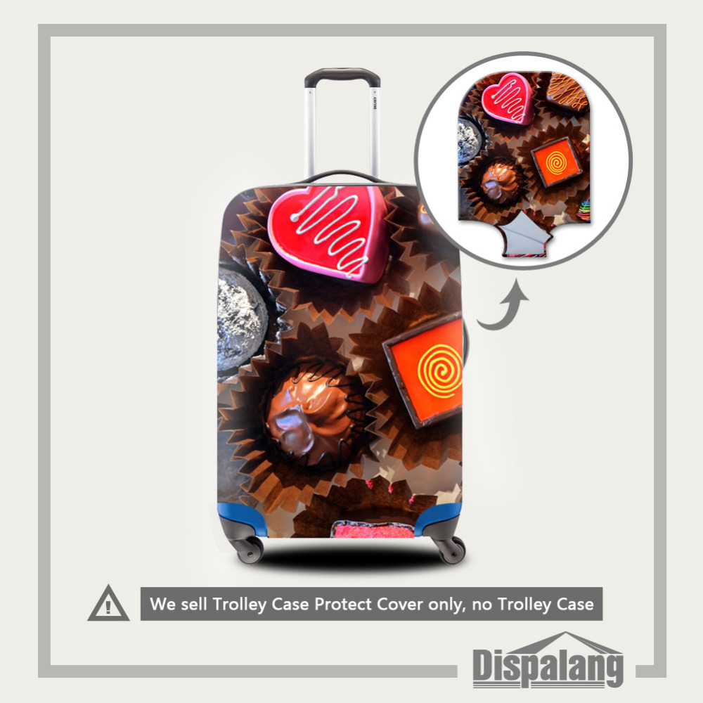 Dispalang High Elastic Stretch Luggage Protective Cover For 18-30 Inch Suitcase Chocolate Luggage Protector Travel Accessories