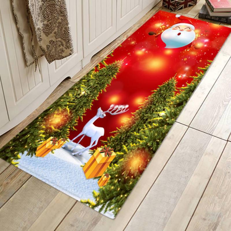 Christmas Tree Carpet Fashion Xmas Home Decor Snowman Christmas Tree Rug Carpet Bathroom Floor Mat Dining Room Home Decoration