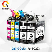 5pcs LC223 XL LC 223 ink cartridge for Brother DCP-J562DW J4120DW MFC-J480DW J680DW J880DW J4620DW J5720DW J5320DW printer