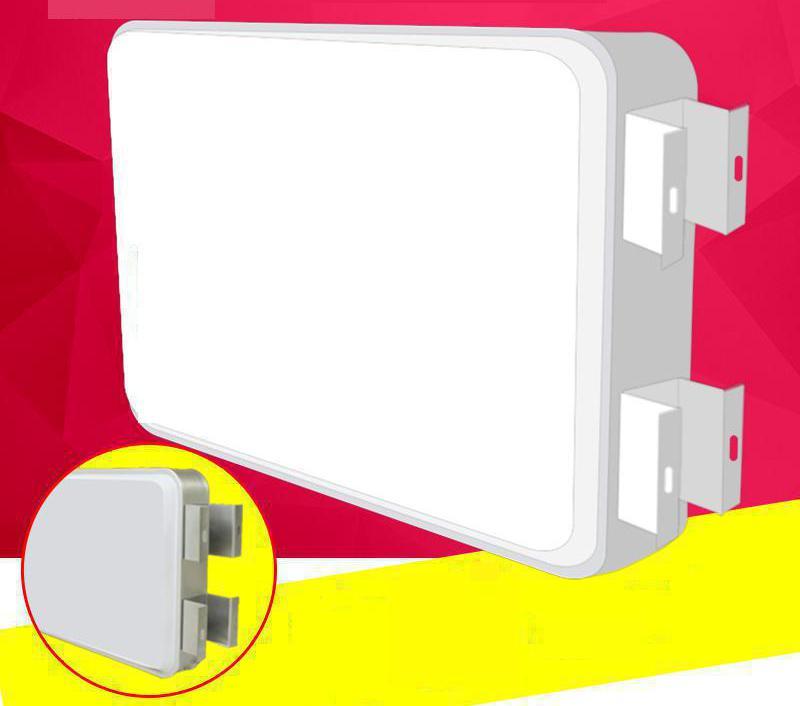 Praça de Plástico levou Caixa de Luz ao ar livre À Prova D' Água Wall Mount Outdoor Personalizado Impressão Simples