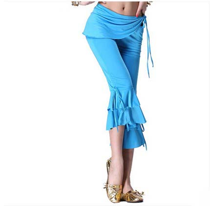 New Belly Dance Costumes Senior Sexy Milk Silk Waist Belly Dance  Pants For Women Belly Dance  Trousers