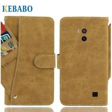 """Кожаный бумажник DEXP T155 чехол 5,"""" Флип винтажные Кожаные чехлы с отделениями для карточек на передней панели Чехол бизнес телефон защитные сумки"""