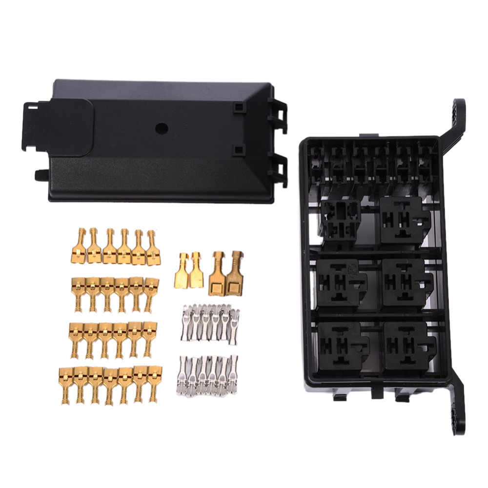 auto fuse box 6 relay holder 5 road the nacelle insurance car insurance fuse holder box [ 1000 x 1000 Pixel ]