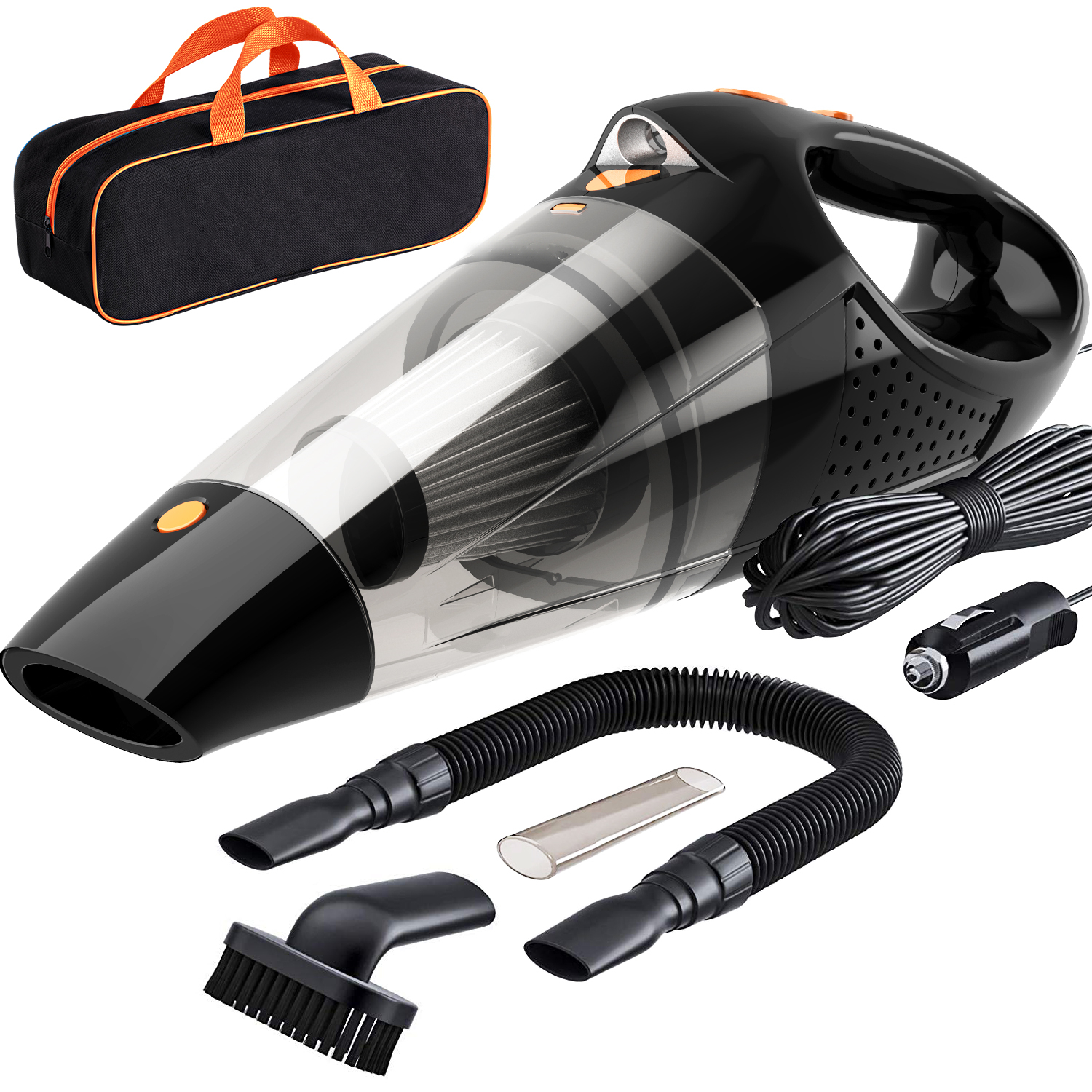 LATEST VERSION Car Vacuum Cleaner DC 12 Volt Wet Dry Auto Vacuum Cleaner With storage bag