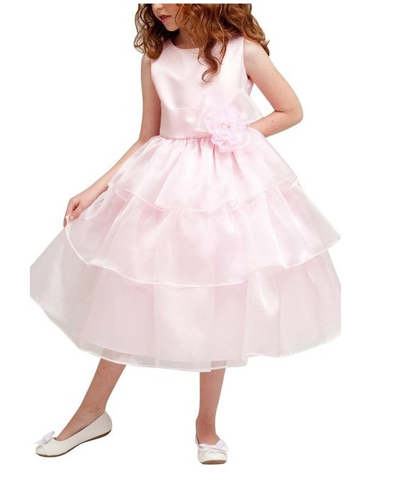 A-Line Flower Girls Dresses For Wedding Gowns Mid-Calf Kids Prom Dresses Voile Dress Girlvestido daminha Mother Daughter Dresses