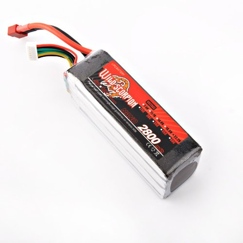 100% Brand New Wild Scorpion RC 22.2V 2800m 30c Li-polymer Lipo Battery for trex 500 Helicopter+free shipping wild scorpion rc 18 5v 5500mah 35c li polymer lipo battery helicopter free shipping
