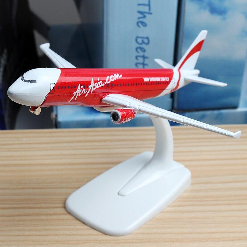 16cm 47cm Air Asia Airlines A320 Airplane Model A340 Aircraft Aviation Scale Model Air Asia United Aircraft Model Stand Crafts 1 400 jinair 777 200er hogan korea kim aircraft model