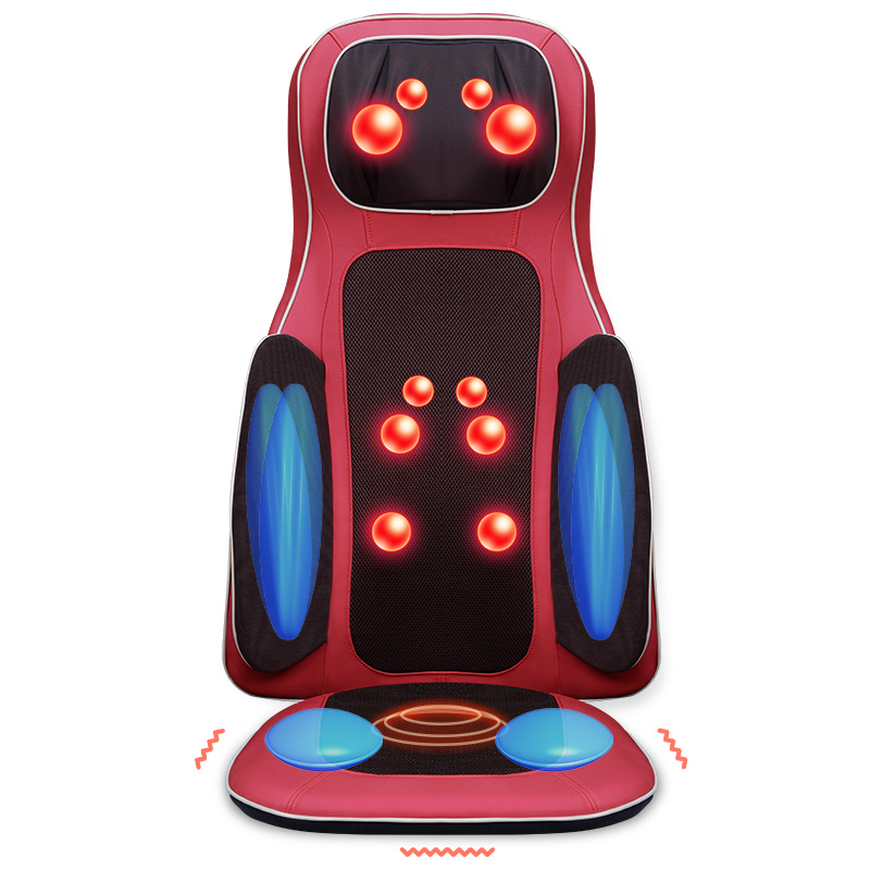 JinKaiRui Vibrating Electric Body Massager Machine Heating Shoulder Back Massage Cushion Chair Car Relax Muscle Therapy Massagem pop relax electric vibrating massager vibrator red light heating therapy body relax handheld massage hammer device massager