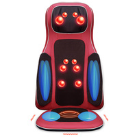 JinKaiRui Vibrating Electric Body Massager Machine Heating Shoulder Back Massage Cushion Chair Car Relax Muscle Therapy Massagem